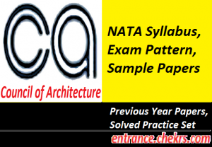 NATA Syllabus, Exam Pattern 2017