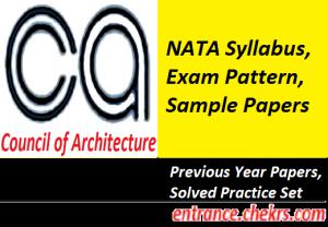 NATA Syllabus, Exam Pattern 2017