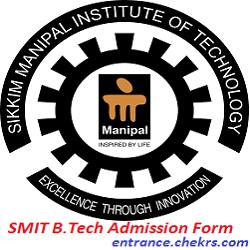 SMIT B.Tech Admission Application Form 2017