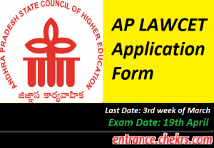 AP LAWCET Application Form 2017