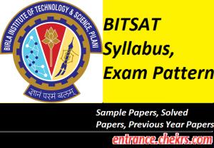 BITSAT Syllabus, Exam Pattern 2017