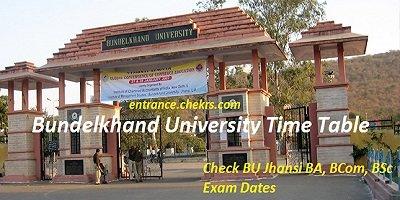 Bundelkhand University Time Table 2017