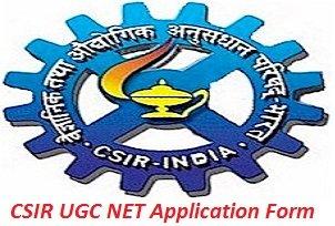 CSIR UGC NET Application Form 2017
