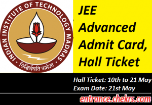 JEE Advanced Admit Card 2017