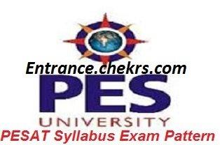 PES SAT Syllabus Exam Pattern 2017