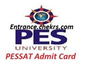 PES SAT 2017 Admit Card