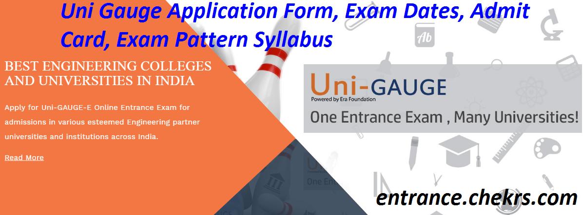 Uni Gauge Application Form 2017