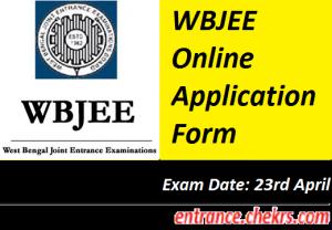 WBJEE Application Form 2017