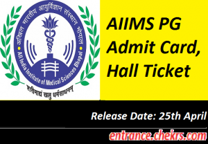 AIIMS PG Admit Card 2017
