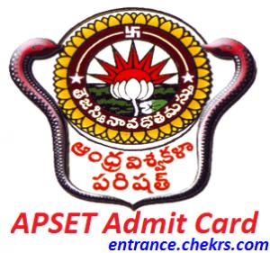 APSET Admit Card 2017