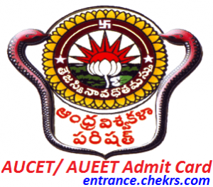 AUCET AUEET Admit Card 2017