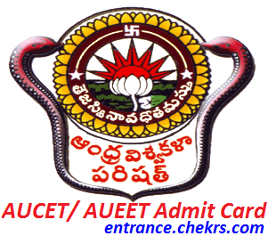 AUCET AUEET Admit Card 2017
