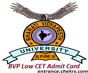 BVP Law CET Admit Card 2017