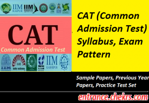 CAT Syllabus Exam Pattern 2017