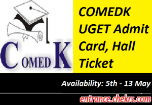 COMEDK UGET Admit Card 2017