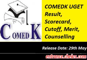 COMEDK UGET Result 2017