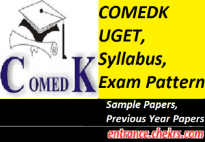 COMEDK UGET Syllabus, Exam Pattern 2017