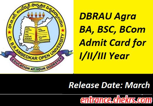 DBRAU Agra Admit Card 2017