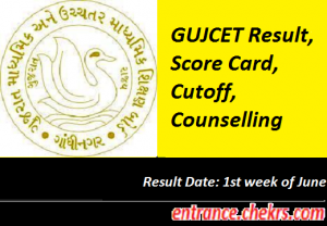 GUJCET Result 2017, Gujarat CET Results at gujcet.gseb.org, Cut off Marks