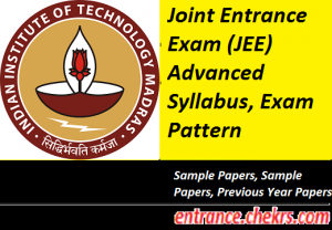 JEE Advanced Syllabus Exam Pattern 2017