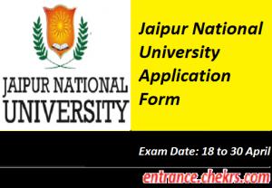 Jaipur National University Application Form 2017