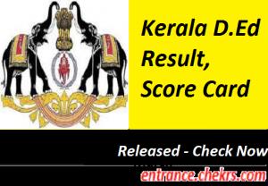 Kerala D.Ed Result 2017