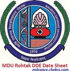 MDU Rohtak DDE Date Sheet 2017