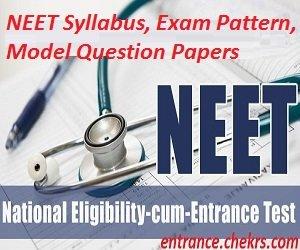 NEET UG Syllabus, Exam Pattern 2017