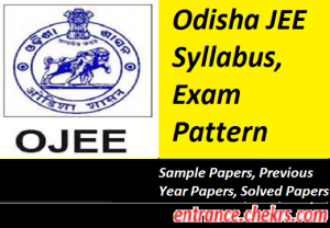 Odisha JEE Syllabus Exam Pattern 2017