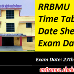 RRBMU Time Table 2017