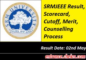 SRMJEEE Result 2017