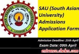 South Asian University Application Form 2017