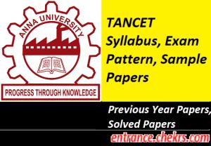 TANCET Syllabus Exam Pattern 2017