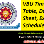 VBU Time Table 2017