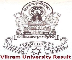Vikram University Result 2017