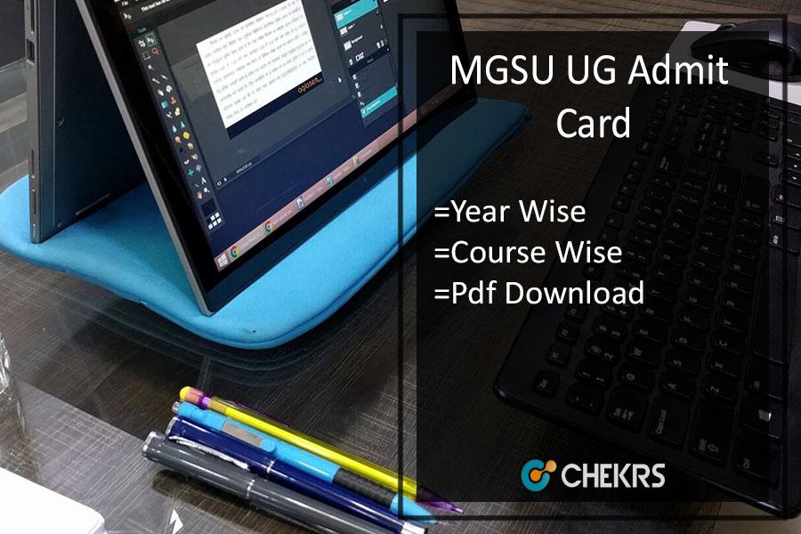 MGSU Admit Card - Bikaner University BA B.Com B.Sc Call Letter