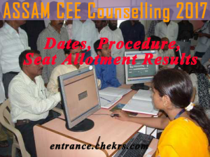 Assam Counselling Schedule