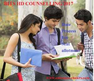 Bits HD Counselling Schedule