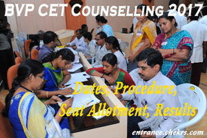 BVT CET Counselling Schedule