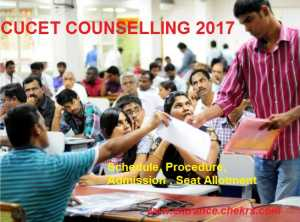 CUCET counselling schedule