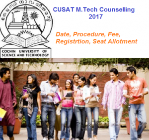 CUSAT M.Tech Counselling