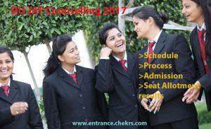 DU JAT Counselling schedule