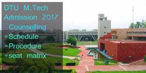 DTU M.Tech Admission