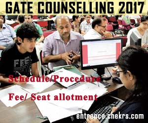 Gate Counselling Schedule