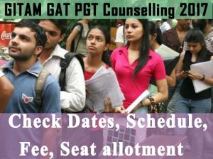 GITAM GAT PGT Cousnelling Schedule