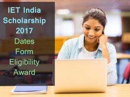 IET India Scholarship