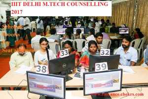 IIIT Delhi M.tech counselling schedule