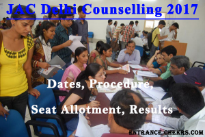 JAC Delhi Counselling Schedule