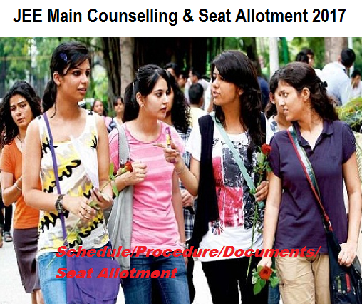 JEE Main Counselling schedule