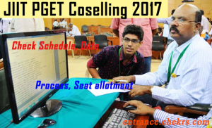 JIIT PGET Counselling Procedure